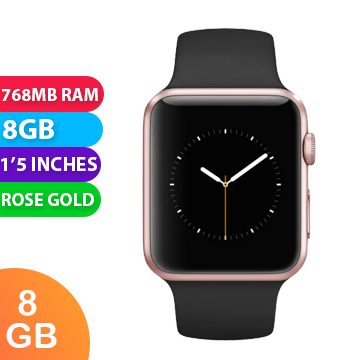 Used As Demo Apple Watch 3 Aluminium 38 Mm Rose Gold 6 Month Warranty 100 Ge Becextech New Zealand
