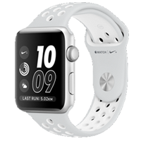 Apple Watch Nike+ 42mm Sport Band Silver White