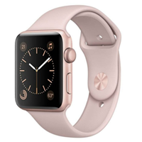 Apple Watch 42mm Sport Band Rose Gold with Pink