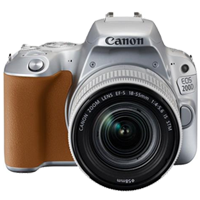 New Canon EOS 200D 24.2MP Kit (18-55mm) Digital Camera Silver