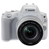 New Canon EOS 200D 24.2MP Kit (18-55mm) Digital Camera White