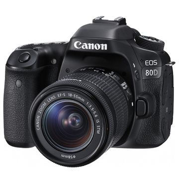 New Canon EOS 80D 24.2MP Kit (18-55mm) Digital Cameras