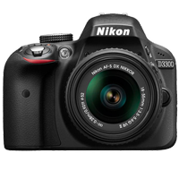 New Nikon D3300 24MP (18-55 VR II) Digital Camera Black