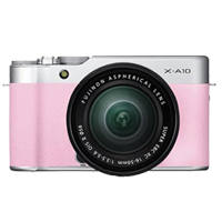 New Fujifilm X-A10 Kit (16-50mm) Digital Camera Pink
