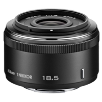 New Nikon 1 NIKKOR 18.5mm f/1.8 Lens Black