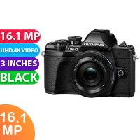 New Olympus OM-D E-M10 Mark IIIS Mirrorless Micro Four Thirds Digital Camera with 14-42mm EZ Lens Black