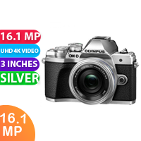 New Olympus OM-D E-M10 Mark IIIS Mirrorless Micro Four Thirds Digital Camera with 14-42mm EZ Lens Silver
