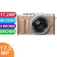 New Olympus PEN E-PL10 Mirrorless Digital Camera with 14-42mm Lens (Brown)
