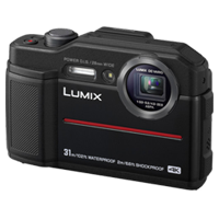 New Panasonic Lumix DC-TS7 Digital Cameras Black
