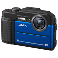 New Panasonic Lumix DC-TS7 Digital Cameras Blue