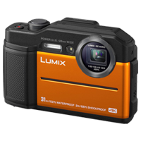 New Panasonic Lumix DC-TS7 Digital Cameras Orange