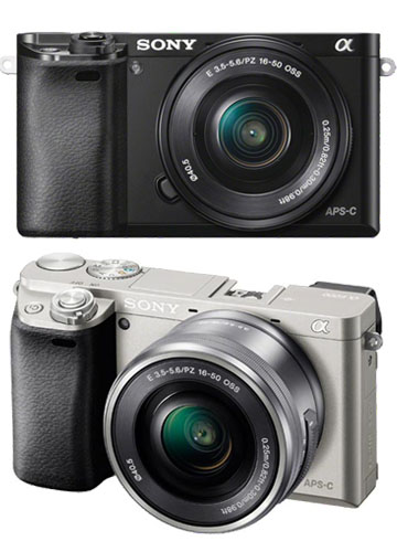 New Sony Alpha A6000 (16-50mm) Kit Digital SLR Cameras Black