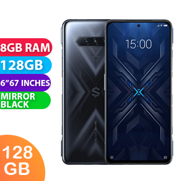 New Xiaomi Black Shark 4 Dual SIM 5G 8GB RAM 128GB Mirror Black