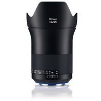 New Carl Zeiss Milvus ZE 1.4/25mm Lens For Canon