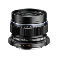 New Olympus M.ZUIKO DIGITAL ED 12mm f2.0 Lens Black