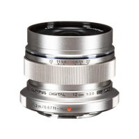 New Olympus M.ZUIKO DIGITAL ED 12mm f2.0 Lens Silver