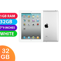 Used as demo Apple iPad 2 32GB Wifi + Cellular Silver/White (6 month warranty + 100% Genuine)