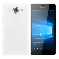 Microsoft Lumia 950 32GB 3GB RAM 4G LTE SmartPhone White Refurbished (1 YEAR NEW ZEALAND WARRANTY)
